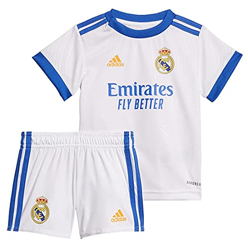 adidas Real H Baby Tracksuit, Unisex-Child, Top:White Bottom:White, 3-6M