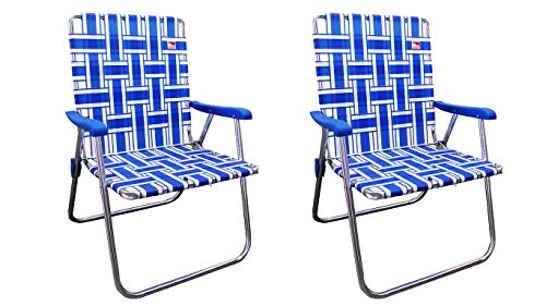 Outdoor Spectator (2-Pack) Classic Reinforced Aluminum Webbed Folding Lawn/Camp Chair