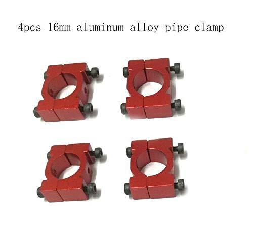 XUSUYUNCHUANG-HAT Mehrachsige Flugrohrschelle 16 mm aus Aluminiumlegierung Rohrschelle for Quad & Hexa Copter 4 Set / 1 Lot Drone Zubehör (Color : Red)