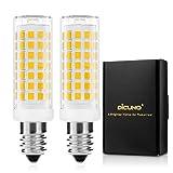 DiCUNO E14 LED Birne 4W,Ersatz für 40W Halogenlampe, 430LM, Warmweiß 3000K, Dimmbar, 220-240V, Maiskolben Led Mais Birne,Kühlschranklampe/Wandlampe/Tischleuchte, 2P