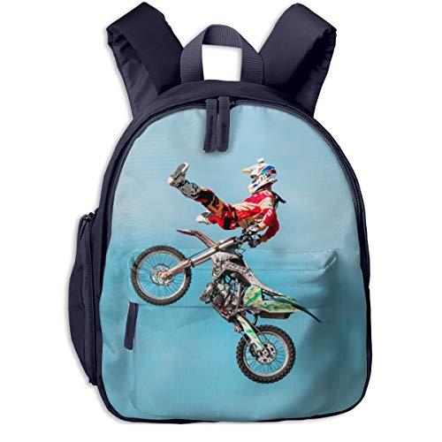 Kinderrucksack Motocross Dirt Bike Motorrad 3, Schulrucksack für Mädchen und Jungen Schultasche Schulranzen Teenager Backpack Daypack Freizeitrucksack Kinder Rucksack
