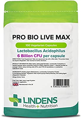 Probiotic Max - High Strength 100 Tablets (probiotic + prebiotic) from Lindens