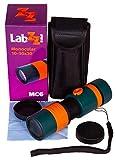 levenhuk monocolo zoom per ragazzi labzz mc6 10–30x – cannocchiale per l'insegnamento delle scienze con ottiche in vetro – può essere con gli occhiali