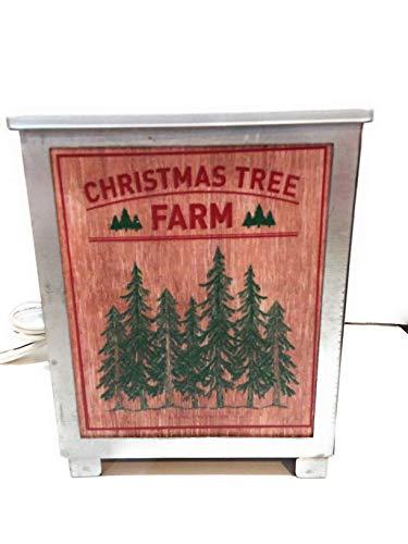 Christmas Tree Farm Candle Wax Melter Warmer Fragrance Tuscany Tabletop Electric Farmhouse
