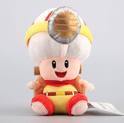 Super Mario Captain Toad Treasure Tracker Soft Dolls Cute Plush Toys Standing & Sitting Toad Stuffed Dolls 20Cm
