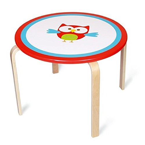 Bavaria Home Style Collection Table pour Enfants Table pour Enfants Meubles pour Enfants Chouette