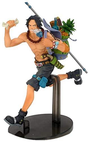VNNY 21CM One Piece Ruffy Ace Sabo Anime Actionfigur DREI rennende Brüder Figur Spielzeug Sammlermodell für Kinder Geschenke-As-As