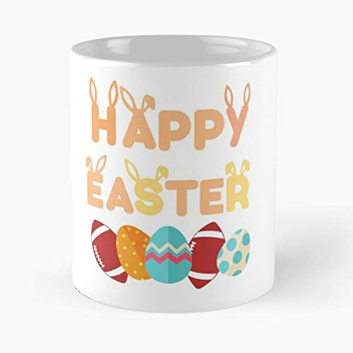 Sport Rugby Happy Romantic Easter Athlete Ball Funny Eat Food Bite John Best Taza de café de cerámica de 315 ml