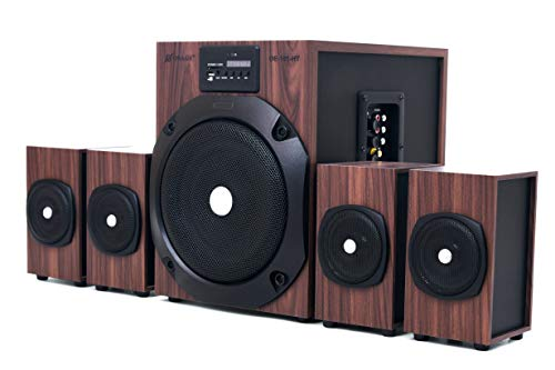 OBAGE 4.1 HT-101 Woody Version Home Theater Bluetooth System with Bluetooth 5.0, Dual AUX,USB,MMC,...