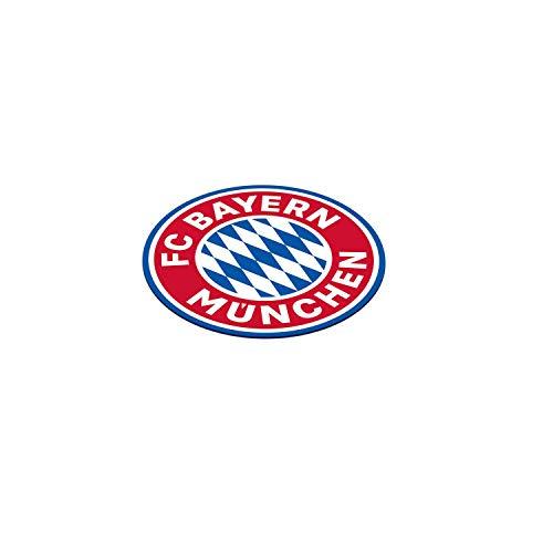 Amscan 9906510 - FC Bayern München Bierdeckel, Set mit 12 Stück, Durchmesser 10,7 cm, aus Papier, Untersetzer für Gläser oder Tassen, Fanclub, Fußball, Party