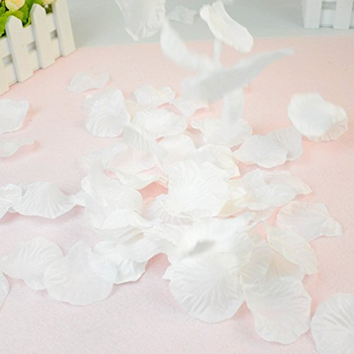 Dxhycc 1000pcs White Silk Rose Petals Artificial Flower Wedding Party Vase Decor Bridal Shower Favor Centerpieces Dxhyccwqe1231