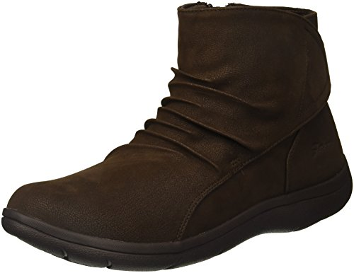 Skechers Women's Lite Step-Tricky Ankle Bootie,Chocolate,7 M US