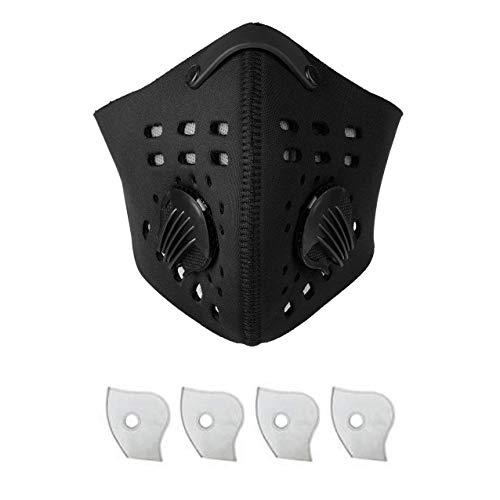 Masque Anti-Pollution/Anti-poussière Sport + 4 filtres avec...