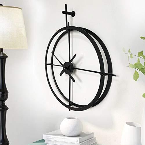 Bxiaoyan Nórdico creativo moda minimalista sala de estar pared reloj de hierro forjado relojes y relojes 60cm
