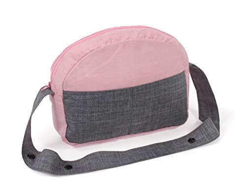 Bayer Chic 2000 853 15, Puppenwickeltasche Wickeltasche für Puppen, Melange grau-rosa