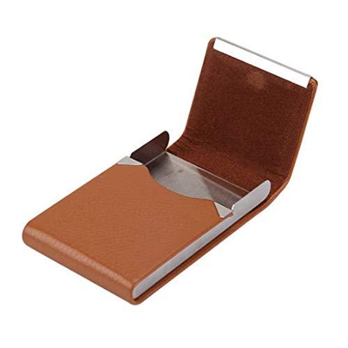 ADSE Zubehör Zigarettenetui 1 PC-Zigaretten-Aufbewahrungsbox Edelstahl-Multifunktionskartenetuis PU-Tabakhalter (Farbe: D)