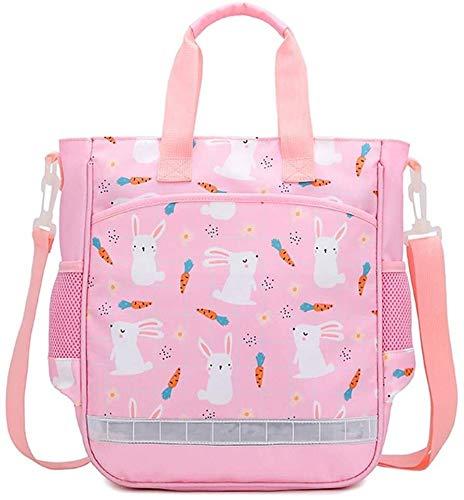 Suge Lección niñas Mochila taleguilla Bookbag Impermeable Viaje Cruz Cuerpo Bolsa de Mensajero Ligera Niños Bolso de Mano Lindo del Conejo (Color : Pink)