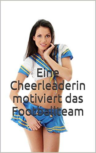 Eine Cheerleaderin motiviert das Footballteam