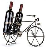 Solinga Deko Weinflaschenhalter Fahrrad aus Metall | Geschenkidee für Fahrradfahrer | Geschenk für Radfahrer | Flaschenhalter