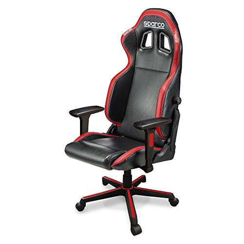 Sparco 00998NRRS Icon Office Asiento, Negro y Rojo