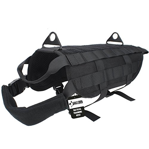 Salt Dog Tactical Training Vest (X-Large, Black)