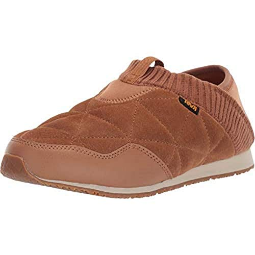 Teva Women's Ember Moc Shearling Shoes Slipper, Pecan, 9