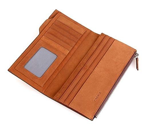 GYYY Business Card Wallet Card Organizer Wallet Cursory Fashion Multi-Function Wallet (Color : Brown, Size : S)