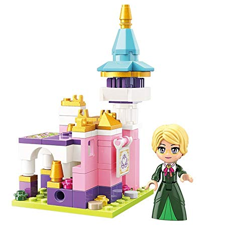 Building blocks girls assembling toys fantasy princess castle building blocks plug-in model children toys-Xiangxin Pavilion