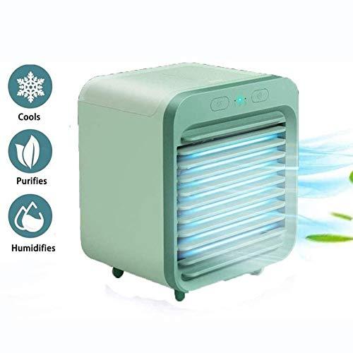 Aire Acondicionado Portatil Air Cooler Mini Ventilador 3 En 1 Ventilador Purificador,Humidificador USB Air Cooler con 3 Velocidades...