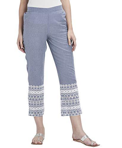 Srishti by FBB Mid Rise Embroidered Pants Blue