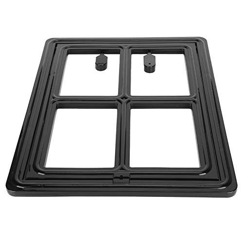 Jeanoko Fácil de instalar puerta de gato pequeño cuatro hebillas Pet Supply para gato pequeño (negro, grande)