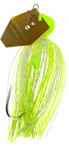 Z-Man CB-EL38-02 Chatterbait Elite, Chartreuse/White, 3/8-Ounce