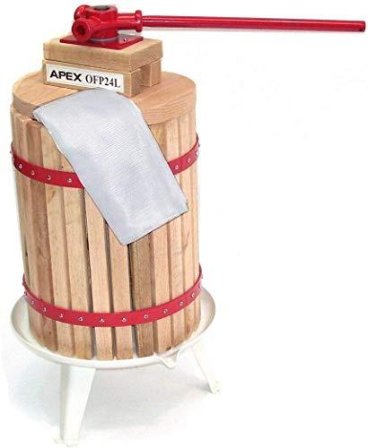 D+L Obstpresse mit 2X Presstuch Maischepresse Weinpresse Apfelpresse AWZ Saftpresse Obst 24L