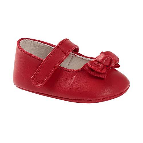 Mayoral Newborn 9407 - Zapatilla para cuna con lazo y velcro, para recién nacidos, color rojo Rojo Size: 17 EU