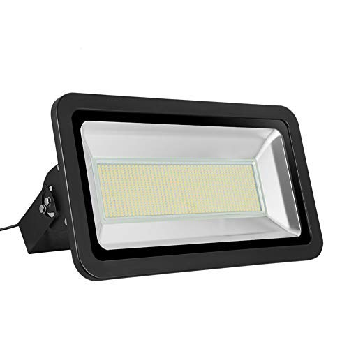 Missbee Super Bright 500W LED Flood Light, 55000lm Outdoor Landscape Flood Light, Security Light, 2800-3000K, Work for Garage, Garden, Lawn,Yard and Playground (Warm White)