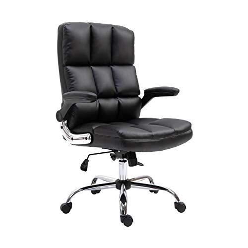 Mendler Bürostuhl HWC-J21, Chefsessel Drehstuhl Schreibtischstuhl, höhenverstellbar - Kunstleder schwarz