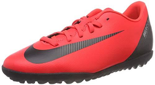 Nike Vapor 12 Club Cr7 Tf, Scarpe da Calcio Unisex-Adulto, Rosso (BRT Crimson/Black/Chrome 600), 42 EU