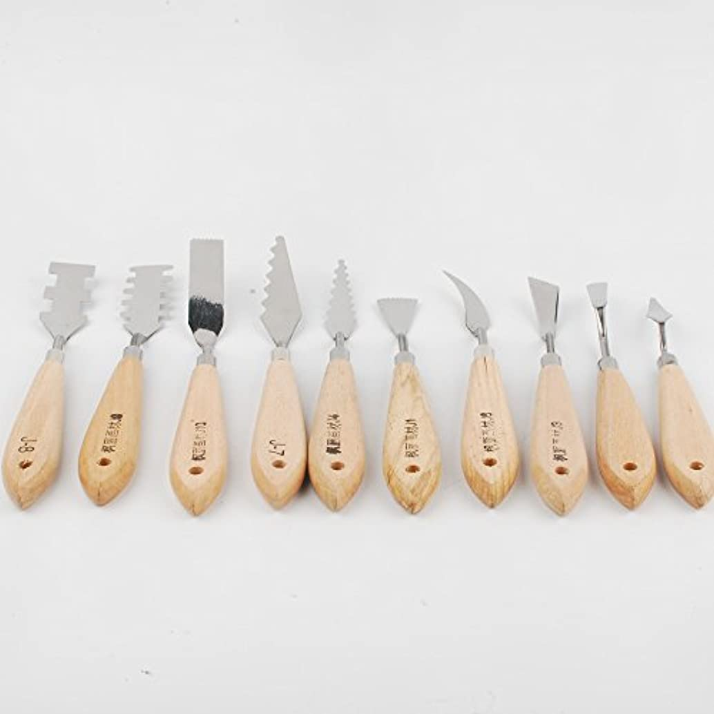 NWFashion Palette Knives for Artists - 9 Piece of Spatulas for FX Special Effects (Steel Knife 10pcs)
