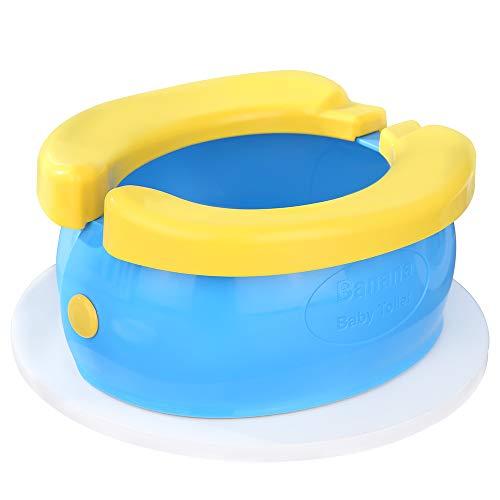 WC para Niños Asiento de Inodoro Plegable Plegable Viajes Potty Reductor de WC para Bebé Contiene 20 bolsas de limpieza desechable y 1 bolsa de almacenamiento, adecuadas para bebés mayores de 12 meses