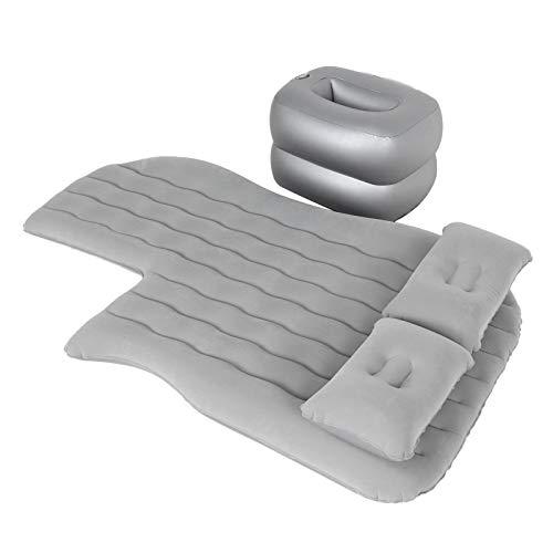 Car Bed, Inflatable Mattress Car Air Sofa, Rear Mattress Flocking + PVC Car Travel Inflatable Mattress RV Truck for SUV Car(gray)
