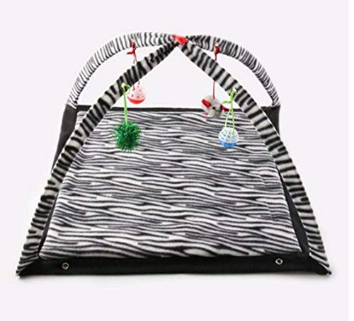 Pet Nest Kennelpet Portable Crawling Game Tent Dog House Cage Cat Cat Tent Game Fence Puppy Kennel Black And White Stripes