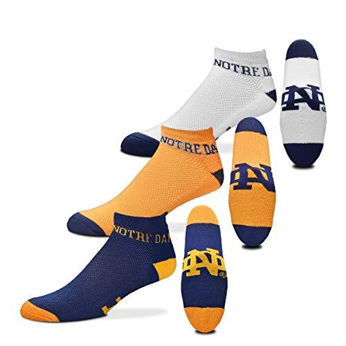 Für Bare Feet NCAA Herren Socken 3Pack kein Geld Knöchel, Herren, Notre Dame Fighting Irish, Large (10-13)