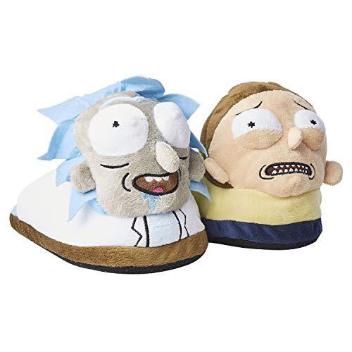 Rick & Morty - Pantuflas de peluche, Multicolor, 10