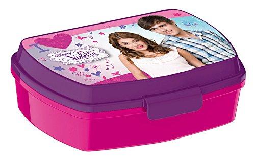 p:os 22938 Brotdose Disney Violetta, 17 x 13,5 x 5,5 cm