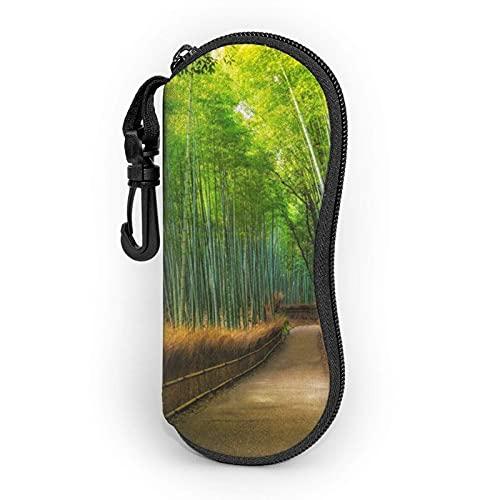Pathway In A Bamboo Forest - Gafas de sol para mujer y hombre (neopreno, con cremallera)