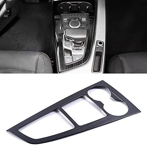 WSCLCP Accesorios de Coche Panel de Engranajes Portavasos embellecedor Adhesivo Marco de Cubierta Decoración Interior, para Audi A4 A5 S4 S5 B9 2017-2020 ⭐