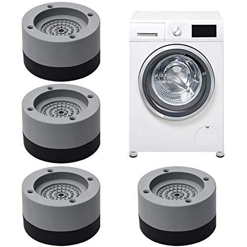 Tappetino Antivibrazione per Lavatrice,Piedini per lavatrice antivibrazione,Piedini in gomma antiscivolo per lavatrici,piedini lavatrice antivibrazione,4 Pezzi Piedini per Lavatrice (A)