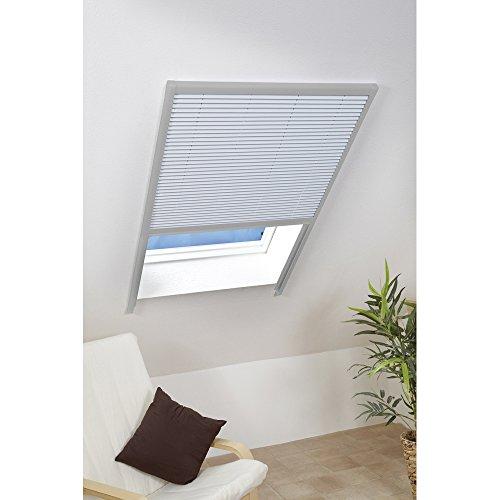Culex 100540102-VH Dachfenster-Sonnenschutzplissee 110x160cm braun