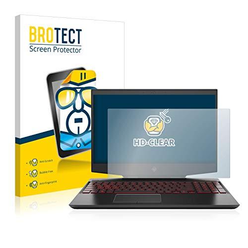 BROTECT Schutzfolie kompatibel mit HP Omen 15-dh0140ng klare Bildschirmschutz-Folie