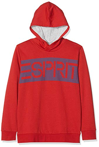 ESPRIT KIDS Jungen RM1502608 Sweatshirt, Rot (Red 375), 128 (Herstellergröße: XS)